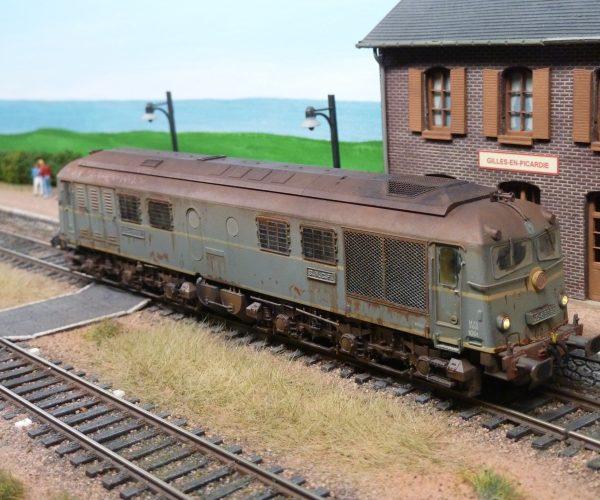Locomotive CC 65500 de Electrotren patinée en HO