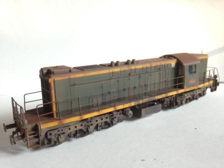 Locomotive A1A 62030 de Mabar patinée en ho